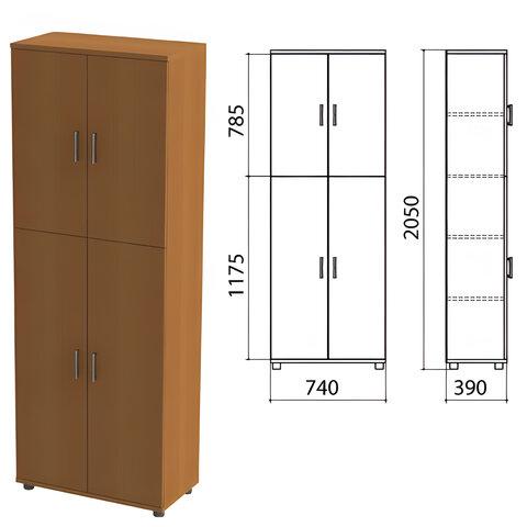 """Шкаф закрытый """"Монолит"""", 740х390х2050 мм, цвет орех гварнери (КОМПЛЕКТ)"""