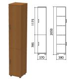 Шкаф закрытый «Монолит», 370×390×2050 мм, цвет орех гварнери (КОМПЛЕКТ)