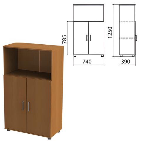 Шкаф полузакрытый «Монолит», 740×390×1250 мм, цвет орех гварнери (КОМПЛЕКТ)
