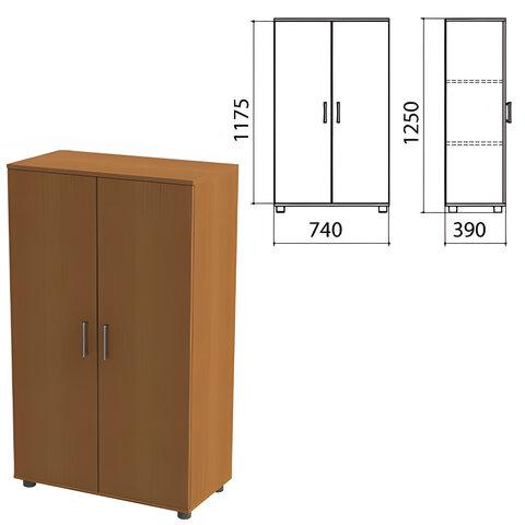 """Шкаф закрытый """"Монолит"""", 740х390х1250 мм, цвет орех гварнери (КОМПЛЕКТ)"""