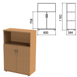 Шкаф полузакрытый «Этюд», 800×384×1182 мм, цвет бук бавария (КОМПЛЕКТ)