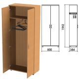Шкаф для одежды «Этюд», 800×384×1942 мм, цвет бук бавария (КОМПЛЕКТ)
