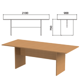 Стол для переговоров «Этюд», 2100×900×750 мм, цвет бук бавария (КОМПЛЕКТ)