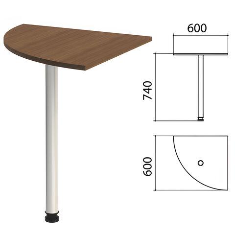 Стол приставной угловой «Эко», 600×600×740 мм, цвет орех (КОМПЛЕКТ)