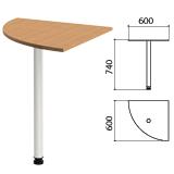 Стол приставной угловой «Эко», 600×600×740 мм, цвет бук бавария (КОМПЛЕКТ)