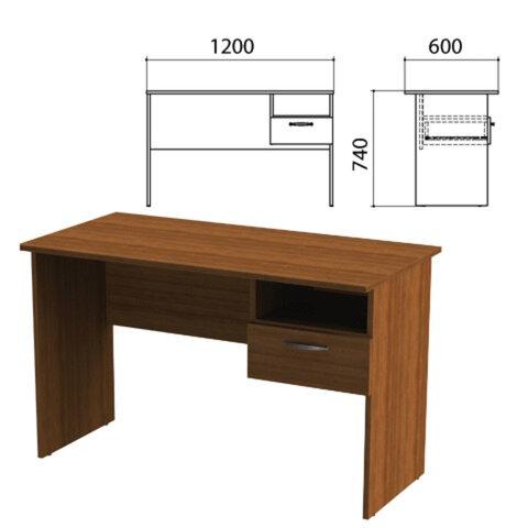 Стол письменный с навесной тумбой «Эко», 1200×600×740 мм, цвет орех (КОМПЛЕКТ)