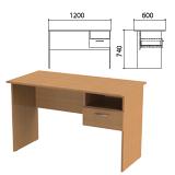 Стол письменный с навесной тумбой «Эко», 1200×600×740 мм, цвет бук бавария (КОМПЛЕКТ)