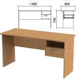 Стол письменный с навесной тумбой «Эко», 1400×600×740 мм, цвет бук бавария (КОМПЛЕКТ)