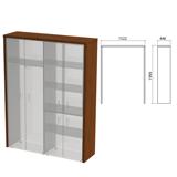 Декоративное обрамление шкафов «Приоритет», 1522×446×1994 мм, ноче милано (КОМПЛЕКТ)