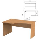 Стол письменный эргономичный «Этюд», 1400×900×750 мм, левый, бук бавария (КОМПЛЕКТ)