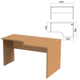 Стол письменный эргономичный «Этюд», 1400×900×750 мм, правый, бук бавария (КОМПЛЕКТ)