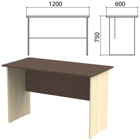 Стол письменный «Канц», 1200×600×750 мм, цвет венге/<wbr/>дуб молочный (КОМПЛЕКТ)