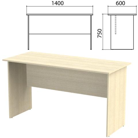Стол письменный «Канц», 1400×600×750 мм, цвет дуб молочный (КОМПЛЕКТ)