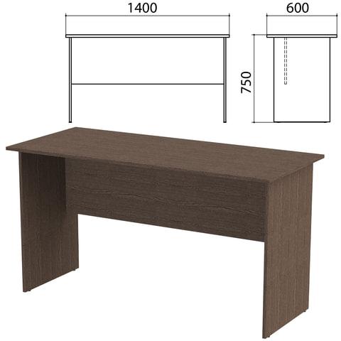 Стол письменный «Канц», 1400×600×750 мм, цвет венге (КОМПЛЕКТ)