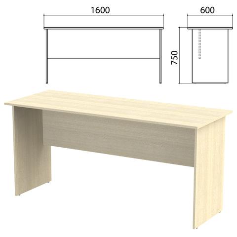 Стол письменный «Канц», 1600×600×750 мм, цвет дуб молочный (КОМПЛЕКТ)
