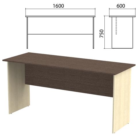 Стол письменный «Канц», 1600×600×750 мм, цвет венге/<wbr/>дуб молочный (КОМПЛЕКТ)