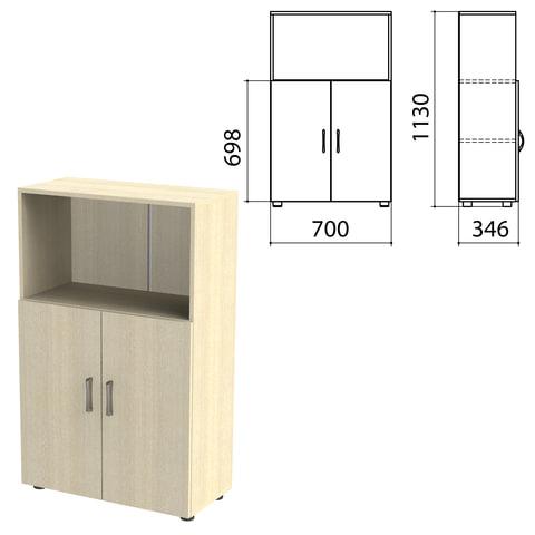 Шкаф полузакрытый «Канц», 700×350×1130 мм, цвет дуб молочный (КОМПЛЕКТ)