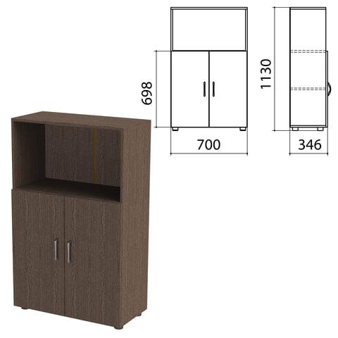 Шкаф полузакрытый «Канц», 700×350×1130 мм, цвет венге (КОМПЛЕКТ)