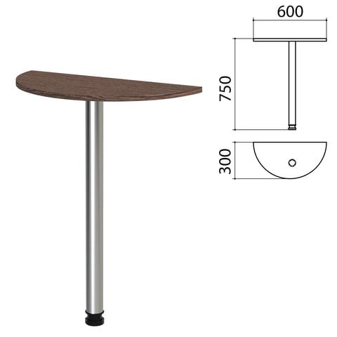 """Стол приставной полукруг """"Канц"""", 600х300х750 мм, цвет венге (КОМПЛЕКТ)"""