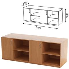 Стол демонстрационный для кабинета физики, 2400×800×900 мм, ЛДСП бук/<wbr/>пластик (КОМПЛЕКТ)