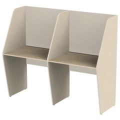 Стол односторонний, 2 места, «Call-центр», 1654×670×1418 мм, цвет бежевый/<wbr/>ясень альтера