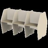 Стол двусторонний, 6 мест, «Call-центр», 2472×1320×1418 мм, цвет бежевый/<wbr/>ясень альтера