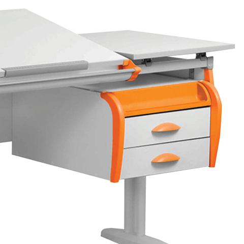 "Тумба навесная для парты ""ДЭМИ"" СУТ.25, 31, 585х435х285 мм, 2 ящика + лоток, цвет белый/оранжевый (КОМПЛЕКТ)"